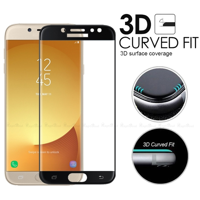 3d curved surface tempered glass for samsung galaxy j5 pro for Photo ecran samsung j5