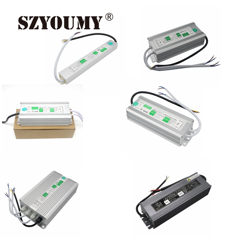 SZYOUMY DC12V 10W 20W 30W <font><b>50W</b></font> 80W 100W IP67 Waterproof LED Transformer Electronic Aluminum Alloy Driver Power Supply image