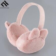 Evrfelan Winter Warm Earmuff For Women Plush Warm Earcap Children Lovely Winter Earmuffs Women's  Unisex Ear Cover Earwarmers