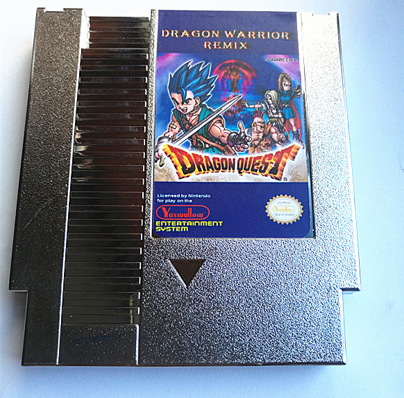 Silver Edition Dragon Warrior Remix 9 in 1 game cartridge for NES, Dragon Warrior I.II.III.IV, Dragon Quest I.II.III.IV image