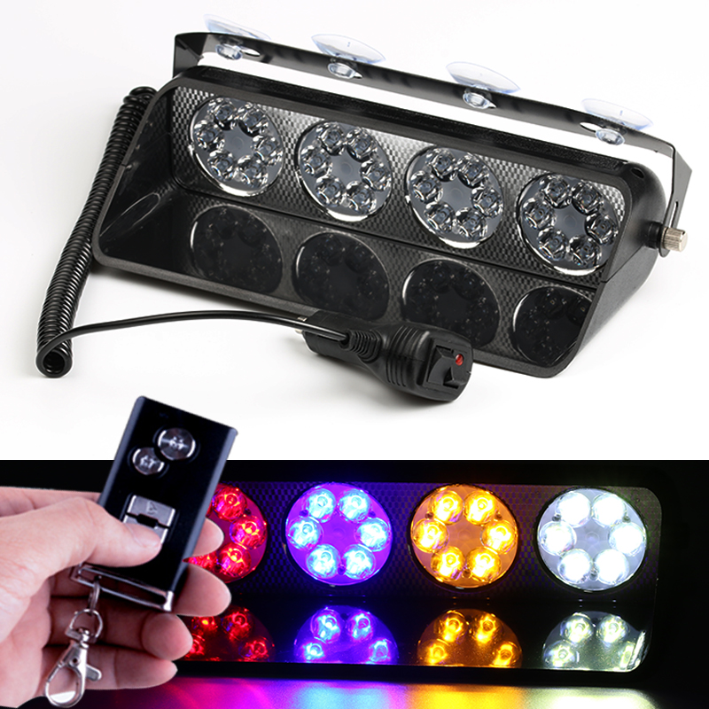 PAL 12v Led windshield DRL Day Running light Car flash light Police Emergency flasher strobe Warnin