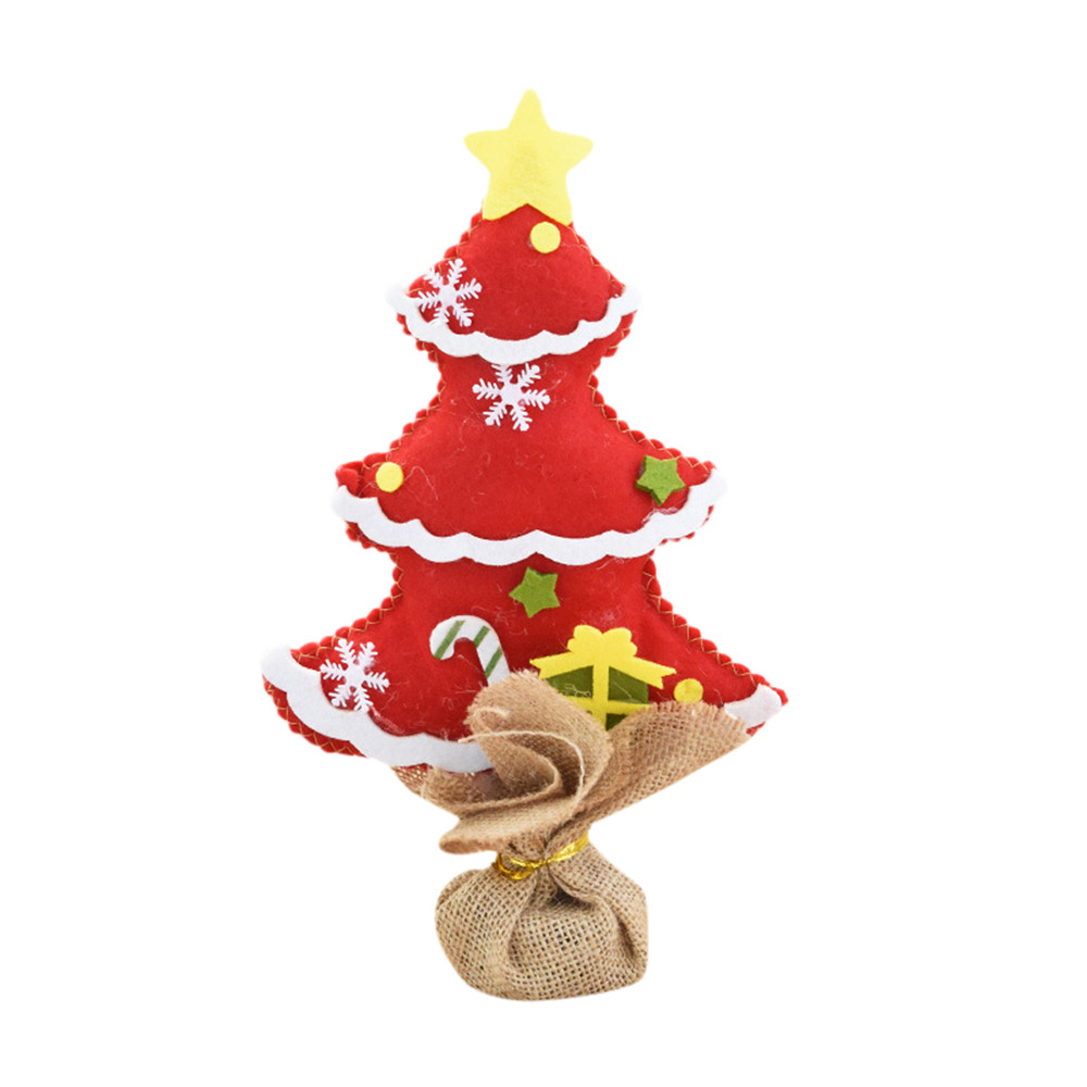 new year christmas decorations for home 2017 Bedroom Desk Decoration Gift Office Home Nonwovens christmas Tree Decoration