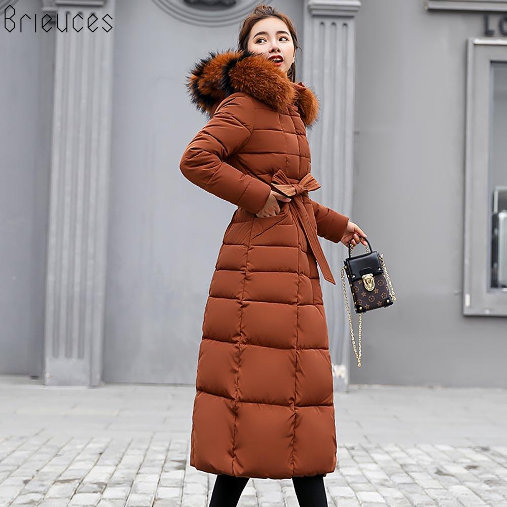 winter coat women large fur hooded warm plus size 3XL winter jacket women parka free shipping navy bread cotton down long jacket
