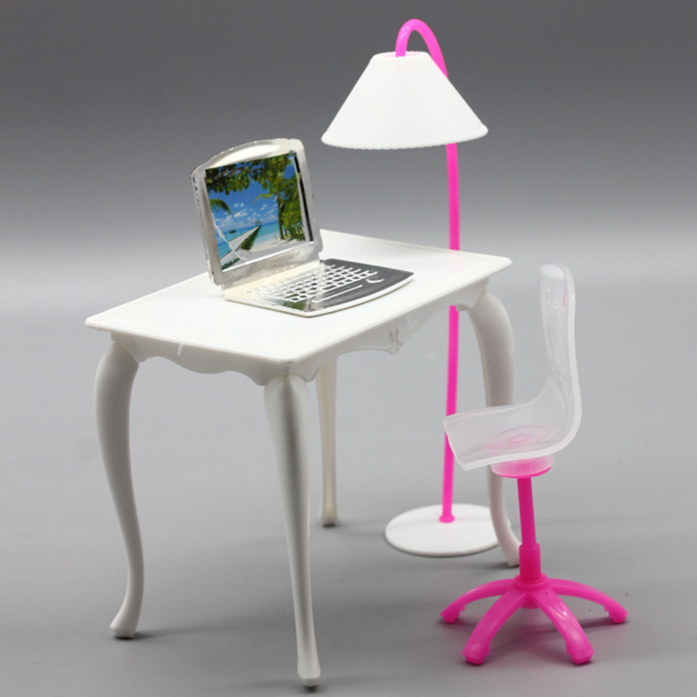 Doll Furniture Desk Lamp Laptop Chair Accessories For Barbie Play House In Dolls From Toys Hobbies On Aliexpress Alibaba Group