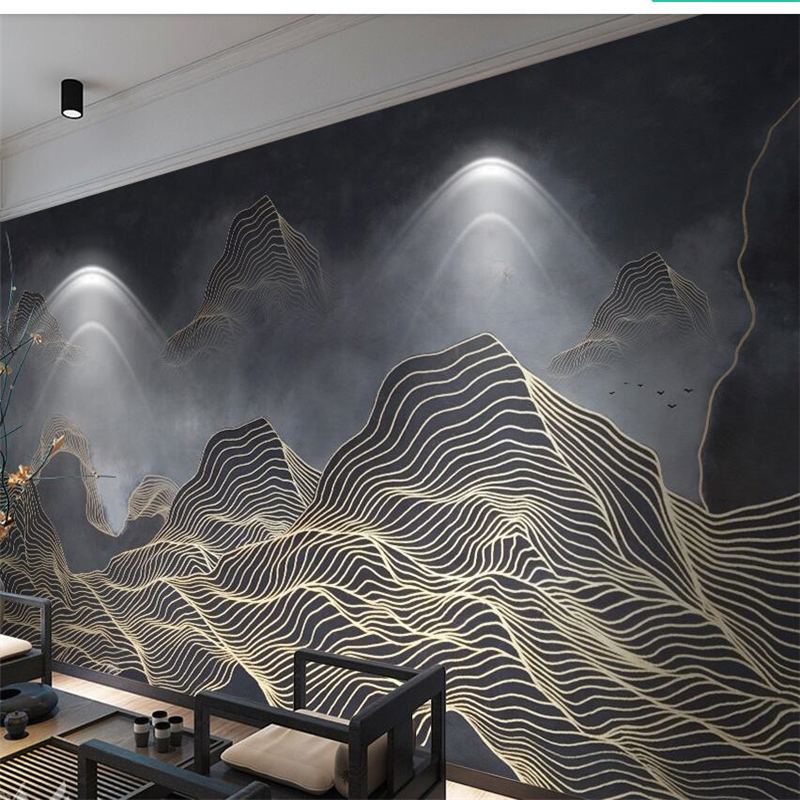 beibehang Custom wallpaper 3D new Chinese abstract lines mood landscape background wall paintings 5d decorative wallpaper 8d 2940art large murals3d can be custom made furniture decorative wallpaper house ornamentation decor wall stickers chinese style