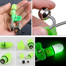 Sougayilang Fish Bite Alarm 10pcs/lot LED Light Carp Fishing Alarm Clip Alerter Fishing Bells for Fishing Rod Tackle