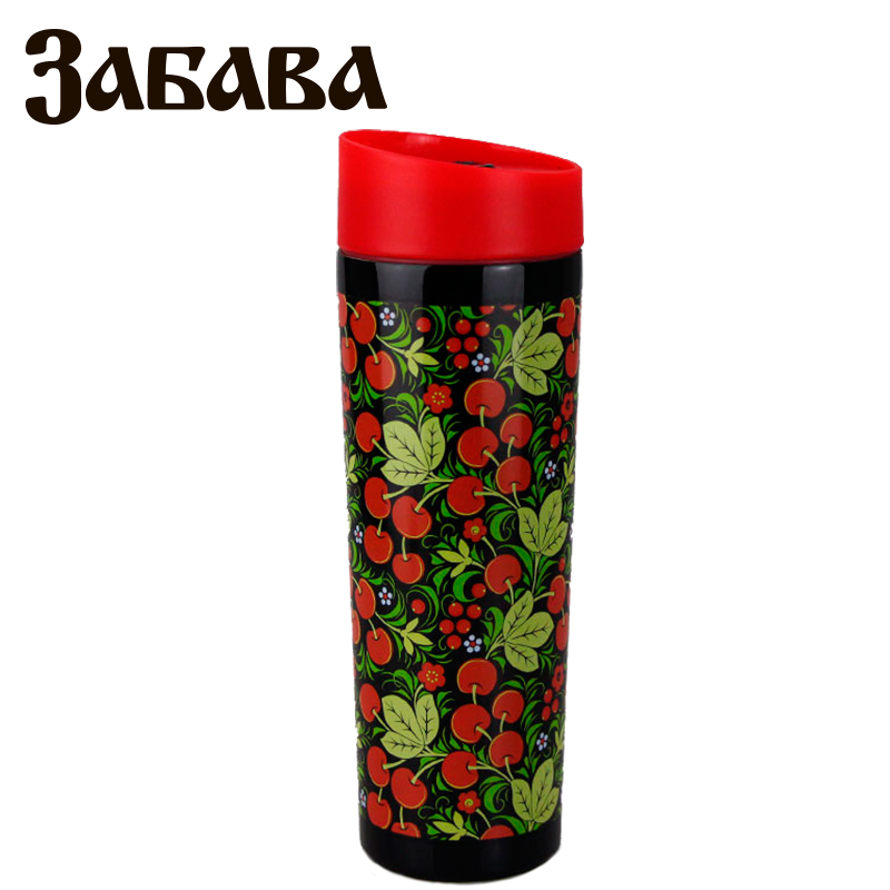 ZABAVA RK-0402M Hot cup 400ml Vacuum Flask Thermose Travel Sports Climb Thermal Pot Insulated Vacuum Bottle Stainless Steel ryder n1005 outdoor dual layer stainless steel abs water bottle red 600ml