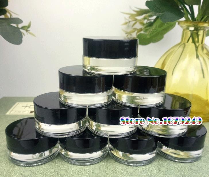 Jars-Pot Container Cream-Bottle Empty-Jar Transparent Mini Black 200pcs Glass with Cap