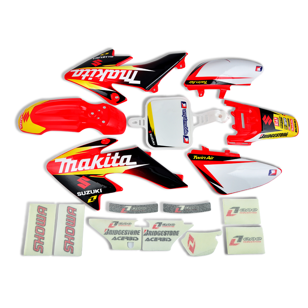6 STYLES Plastic Fenders Fairing Graphics Decal Sticker For Honda CRF50 2004 2012 Chinese CRF 50