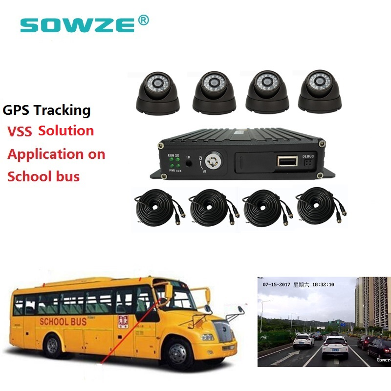 US $302 0 |School Bus Security Camera System GPS Mdvr Mobile Dvr  Surveillance Solution-in Surveillance System from Security & Protection on