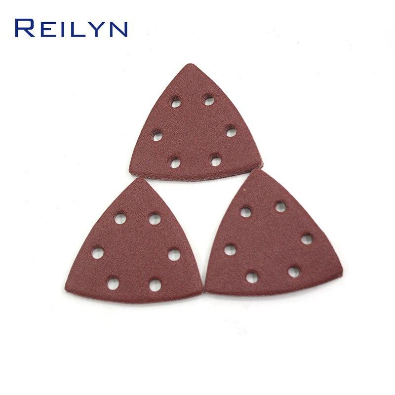 Reilyn New Triangular Sandpaper Tray Flocking Paper Base Material Metal Furniture Ship Polishing Brushed Back Grinding Disc