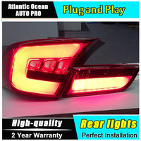 A&T Car Styling for Toyota Camry Taillights 2012 Camry LED Tail Lamp Aurion Rear Lamp DRL+Brake+Park+Signal led lights