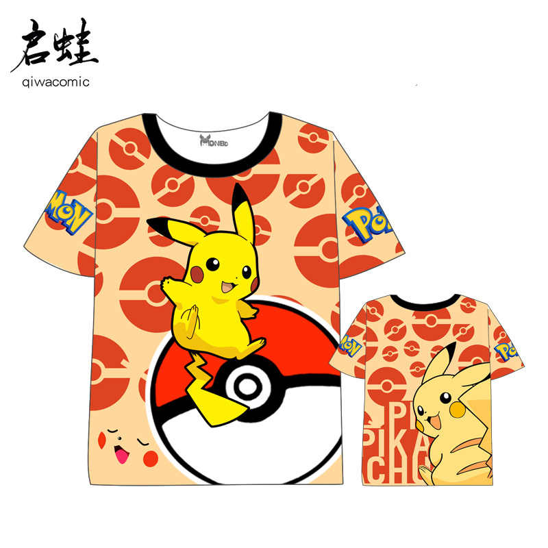 427ec173 ... Anime Pokemon Pikachu T-shirt Men Women Short Sleeve Summer dress Cartoon  t shirt ...