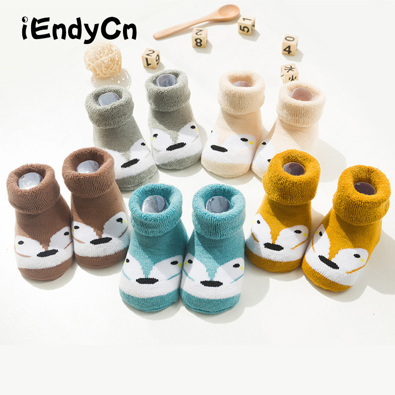 5 Pairs/Lot Toddler Socks For Newborns Anti Slip Warm Floor Children Socks Winter Kids Foot Warmer Boy Girl HJS7133