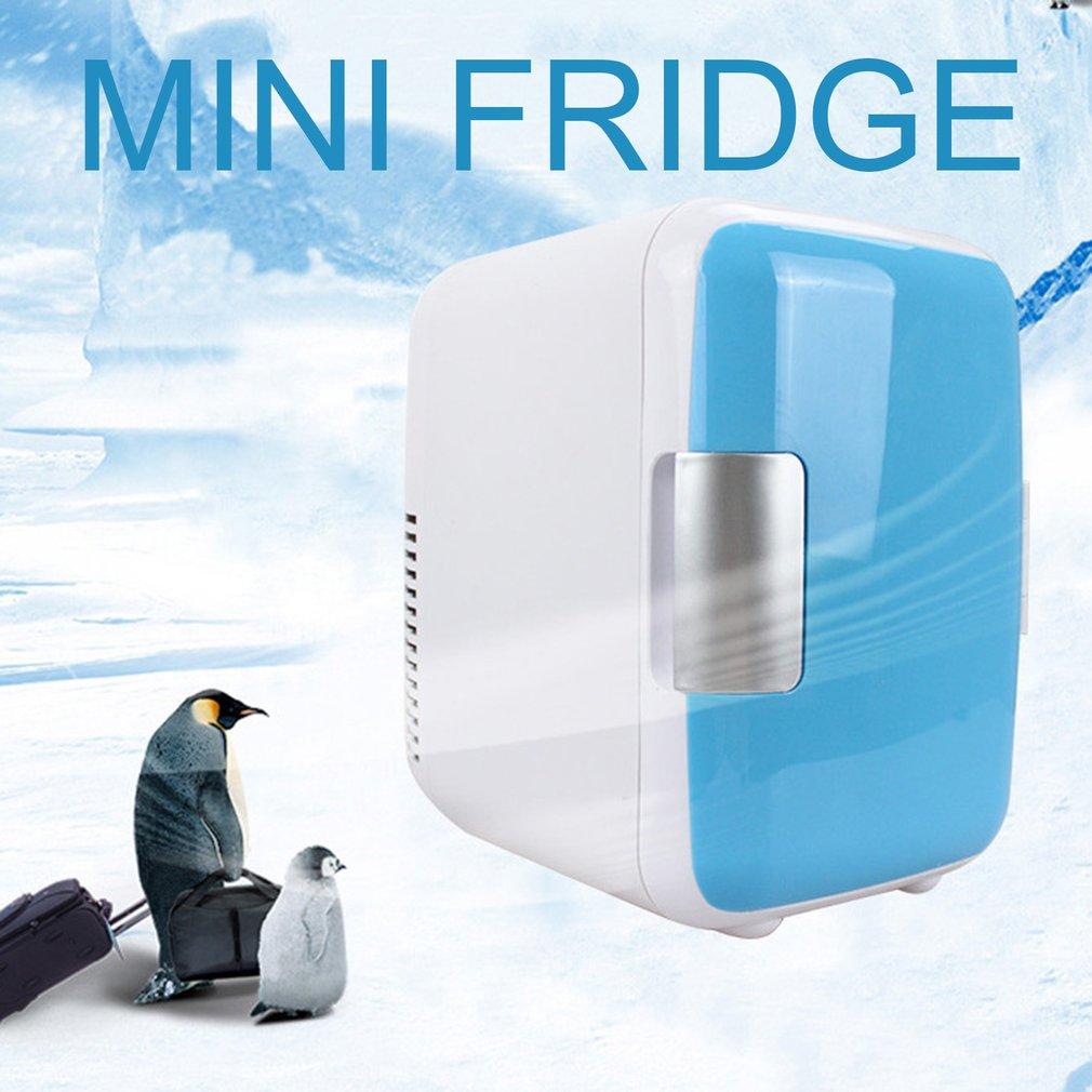 4L Car Refrigerators Fridge  Freezer Cooling Heating Box  Multi-Function Home Travel Vehicular Cooler Fridge Quiet Low Noise
