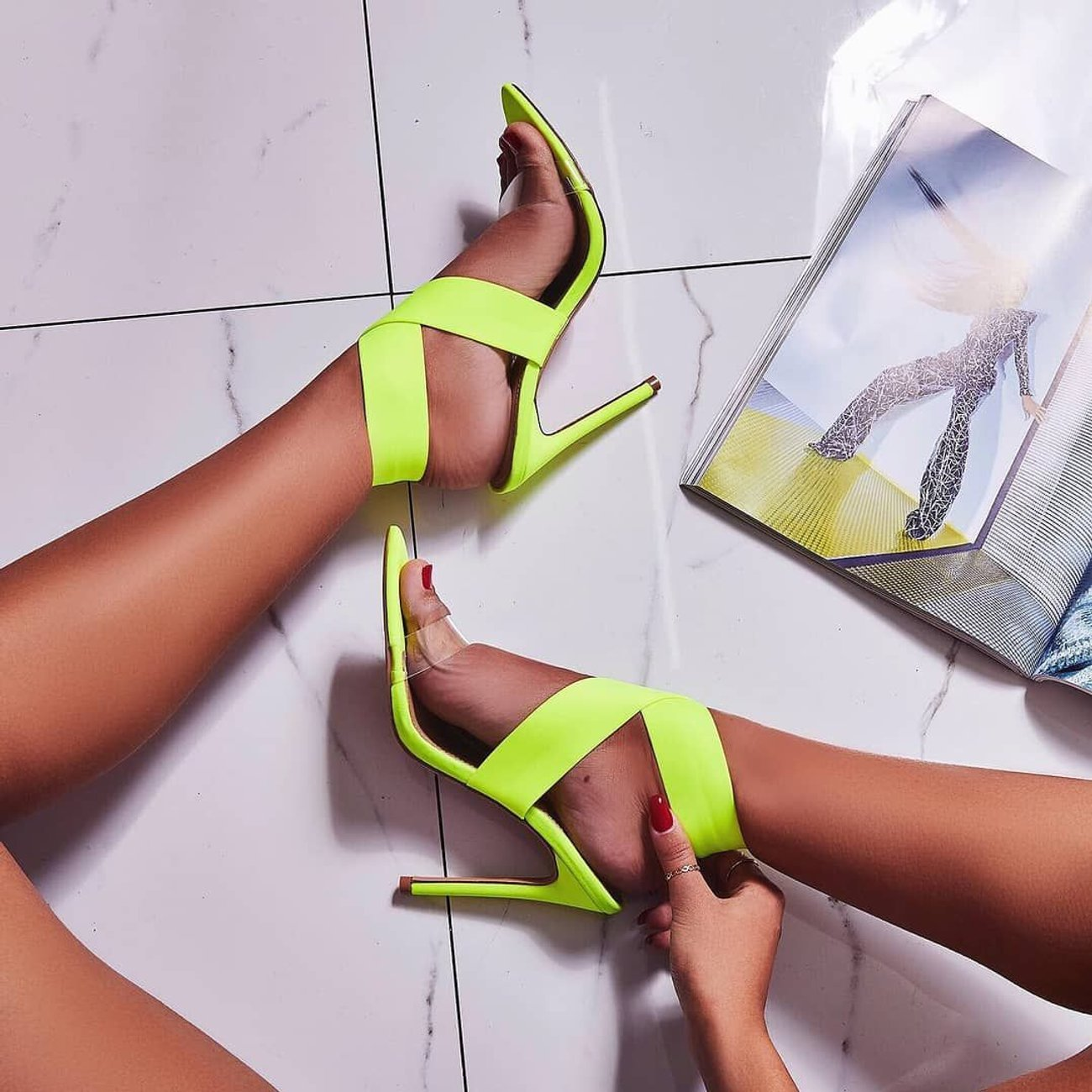 Party Sandals Ankle-Wrap Thin-Heels Lace-Up Summer Women Shoes Fashion Casual Classics