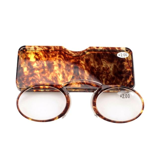 51f82a214cf0 SOOLALA 2 pcs Women Men Reading Glasses Fashion Pinch Nose Light Presbyopic  Eyewear Metal Nose Portable
