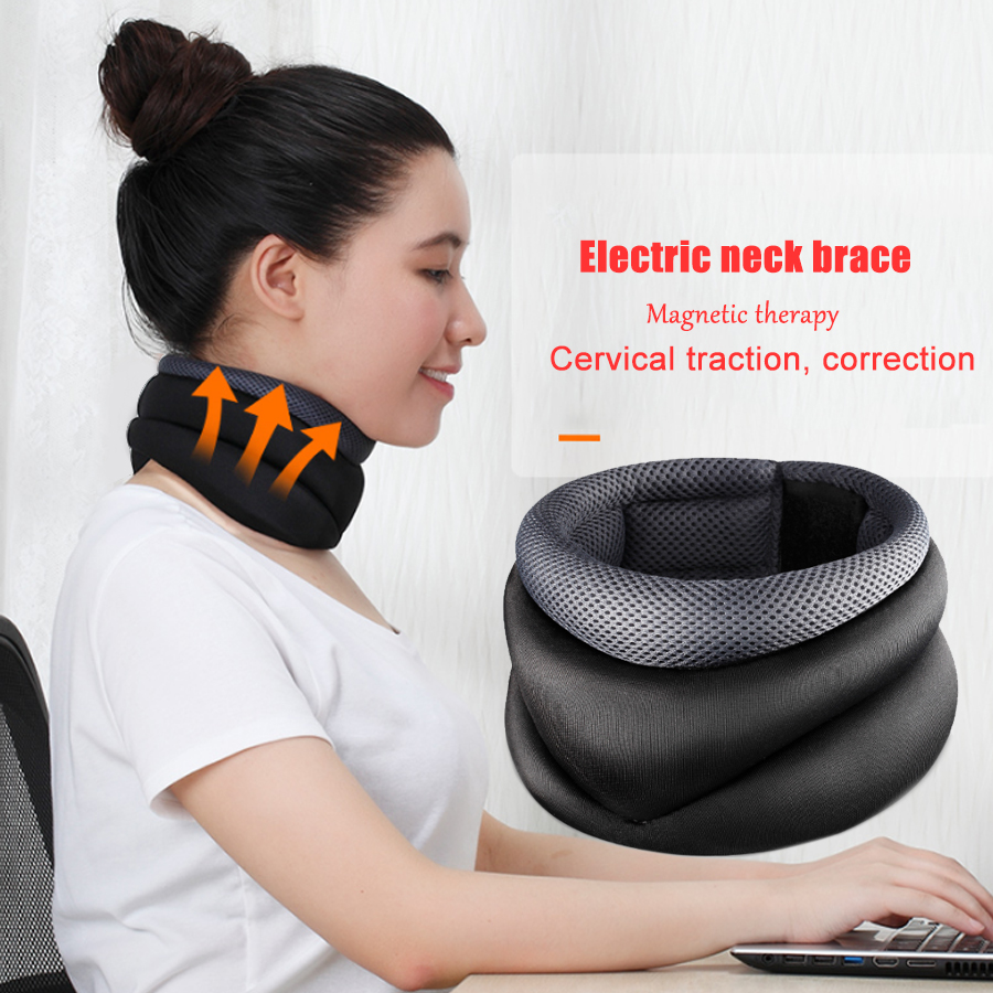 Electric neck brace warm neck Belt support relieve pain Cervical Vertebra Protection Collar Magnetic therapy Posture Corrector medical neck support orthosis adjustable cervical collar device fixed traction braces vertebra rehabilitation head protection
