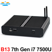 Intel Core i7 7500U i5 7200U i3 7100U 7TH Gen kaby Lake Mini PC Окна 10 Безвентиляторный Компьютер ТВ коробка 4 К HD Дисплей HTPC 300 м Wi-Fi