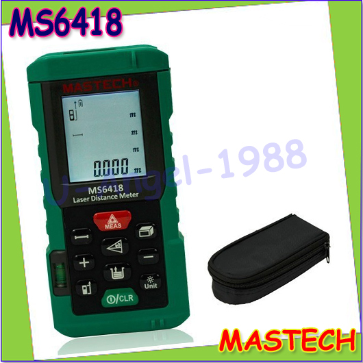 ФОТО 1pcs MASTECH MS6418 Laser Distance Meter 80M Distance Measure Digital Range Finder With Bubble level Whoesale