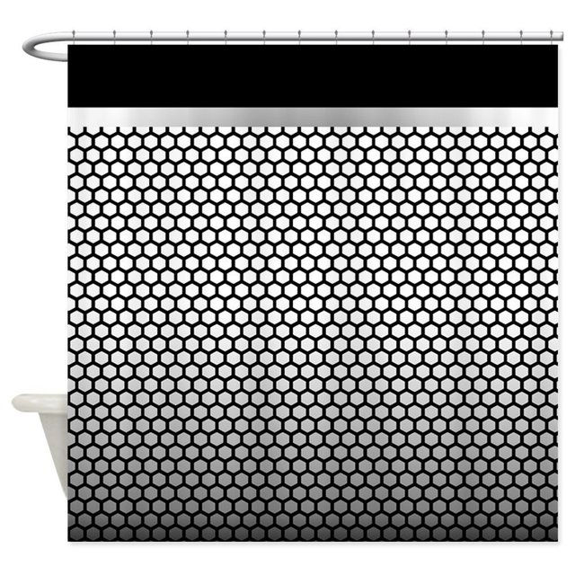 Cool Metallic Black And Silver Shower Curtain Decorative Fabric Shower  Curtain Set House Doormats For Living