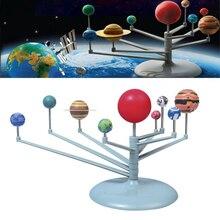 21 см DIY 3D моделирующая модель солнечной системы, игрушечные весы с девятью планетами, пластиковые Развивающие игрушки в подарок