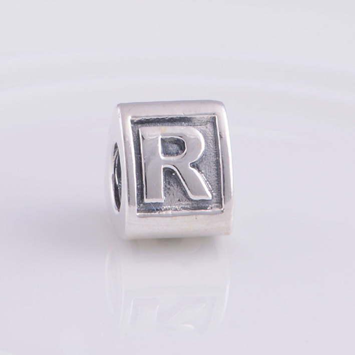 aliexpresscom buy alphabet beads letter r charm silver beads fit pandora bracelet charms 925 sterling silver jewelry bead diy for women bracelet from