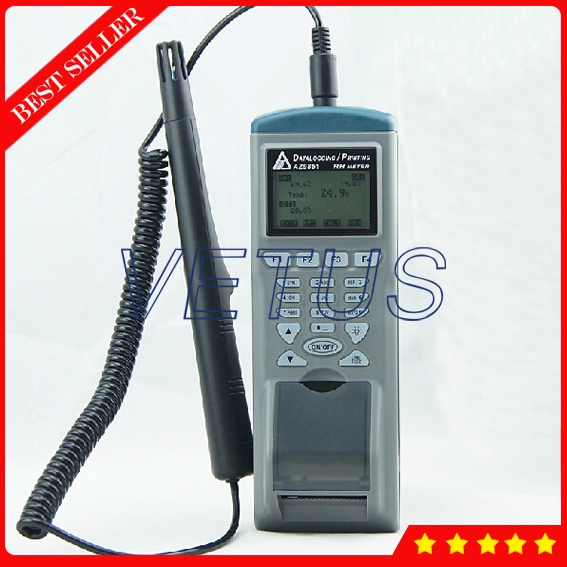 AZ9851 Digital Datalogger 3 in 1 Temperature Humidity Data Logger with Printer 12000 point Recorder Thermometer Hygrometer Meter
