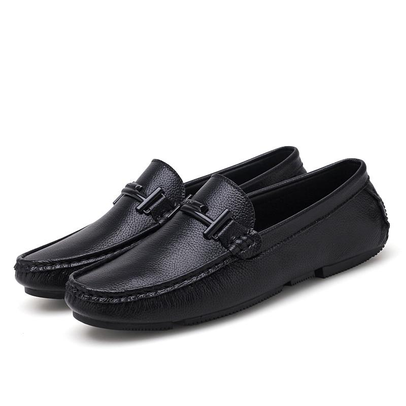 Formelle De Hommes white Cuir Chaussures Black Italien Marques Noir Sur Slip En Véritable Luxe Jkpudun Casual Conduite Mocassins 8Fq0BCnw