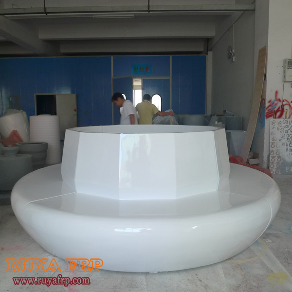 RUYA Waiting Chair,big Round Commercial Furniture With Planter Pots  Decoration,fiberglass Shopping Mall Decorative Chair RY F083 In Waiting  Chairs From ...