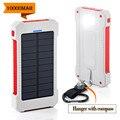 A prueba de agua 10000 mah banco de la energía solar cargador solar con luz led dual usb powerbank para iphone tablet