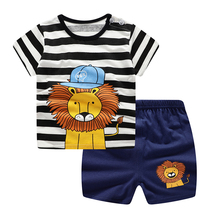 Kids Clothes Summer Cotton Boys Sets T-Shirt + Shorts Toddler Boy  Children Clothing Newborn Baby Boy Clothes Kids Suit 2017 spring newborn baby boy clothes bow lie kids suit clothing sets 3pcs children bebe solid cloth outfit sport coats boys