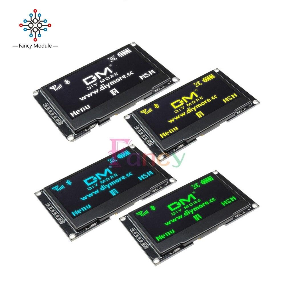 2,42 pulgadas LCD pantalla 12864 Módulo de pantalla OLED CII I2C SPI serie C51 STM32 SSD1309 para Arduino 128X64 blanco/azul/Verde/amarillo