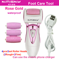 Rose Gold charging cable pedicure electric tools Foot Care Exfoliating Foot Care Tool +4Ps roller pedicure heads Scholls KIMISKY