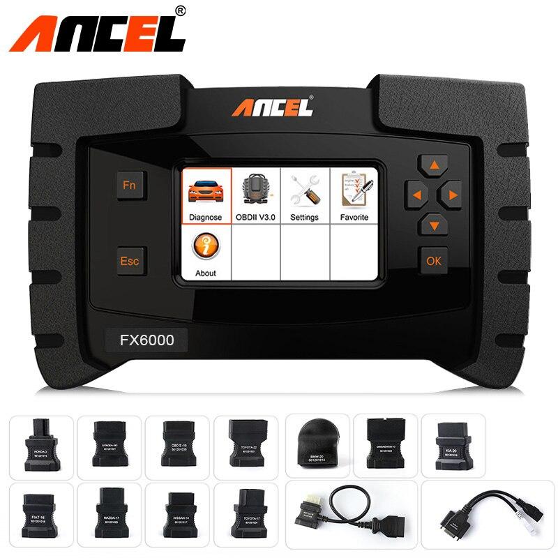obd2 auto car diagnostic tool with 11 obd adaptor cable for old car ecu programming coding tool. Black Bedroom Furniture Sets. Home Design Ideas