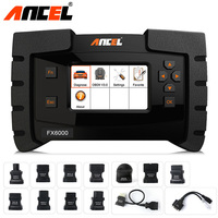 OBD2 Auto Car Diagnostic Tool with 11 OBD Adaptor Cable for Old Car ECU Programming Coding Tool Full System Scanner Ancel FX6000