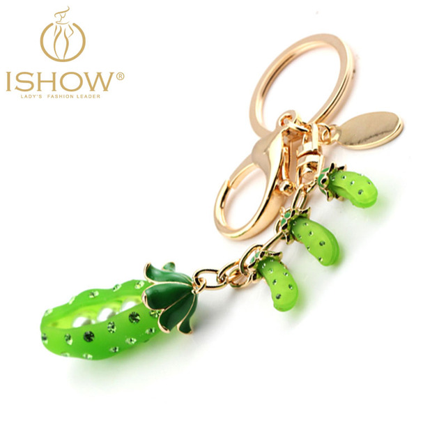 Fashion The peasecod Pearls & Glass Enamel luxury keychain exquisite charm bag llaveros noble  vintage accessorie chaveiro