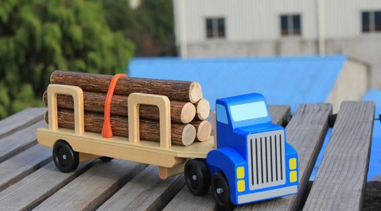 unid beb vehculo de transporte de camin de transporte de trfico de madera bloques del