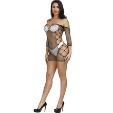 Yomocarajox Fishnet Underwear Elasticity Nylon Lenceria Sexy Lingerie Mesh Baby Doll Dress Erotic Lingerie For Women Sex Costum