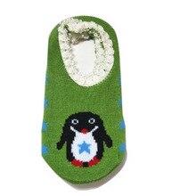 printed the pengium pattern 100% cotton anti-skid boat socks for 0~2 age toddler prewalker boy ang girl knitted socks