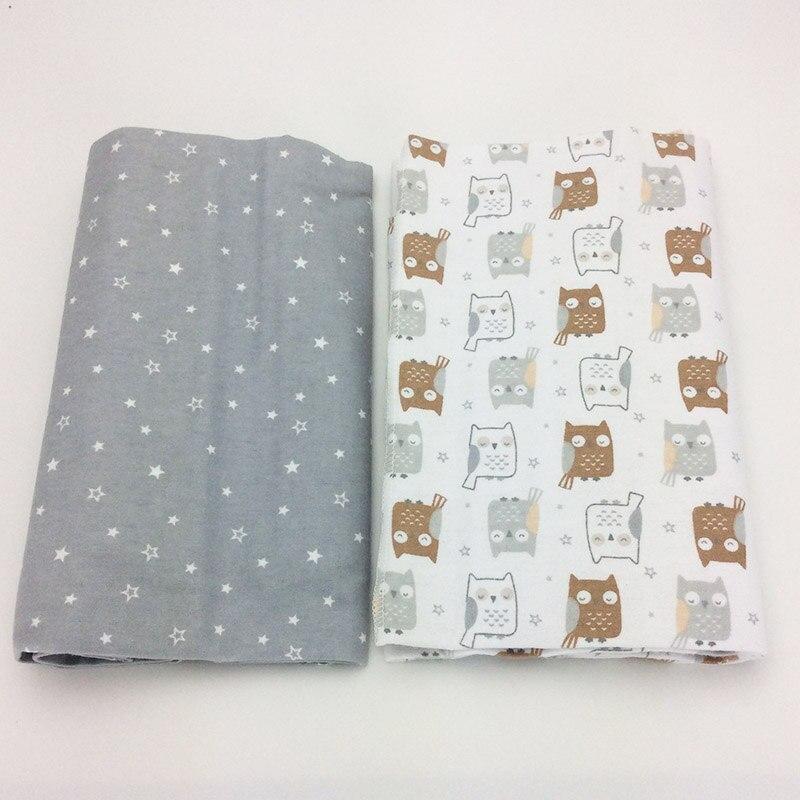 2 pcs/pack feuille bébé 102x76 cm 100% coton nouveau-né bébé lit feuille Éléphant impression crib sheet bébé ensemble de literie sof