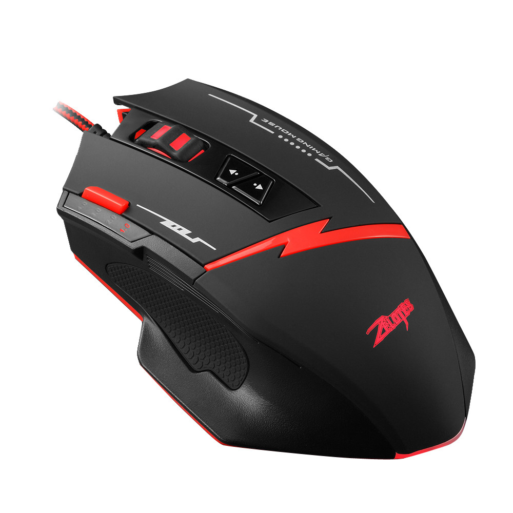 Zelotes C-8 Programmable 8 Buttons LED Optical USB Gaming Mouse Mice 2500 DPI mouse gamer mice mouse #0408