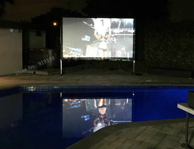 150 inch 16 to 9 fast folding projection screen pic 8