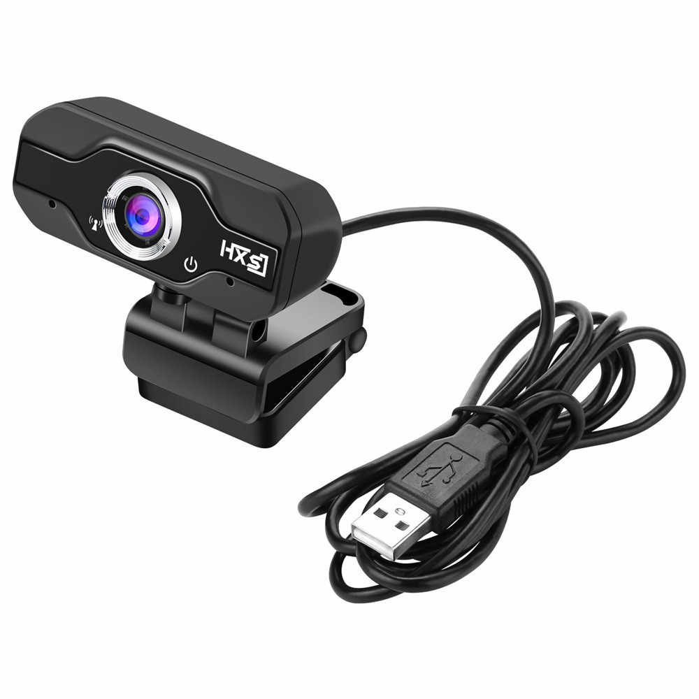 HXSJ S60 1080 HD ميغا بكسل USB2.0 كاميرا كاميرا مع ثنائي MIC كليب على لجهاز كمبيوتر محمول دروبشيبينغ