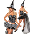 Halloween Witch Cospaly Costume Fancy Dress Adult Women Carnival Sexy Costume cap corset skirt sets costume hot girl Halloween