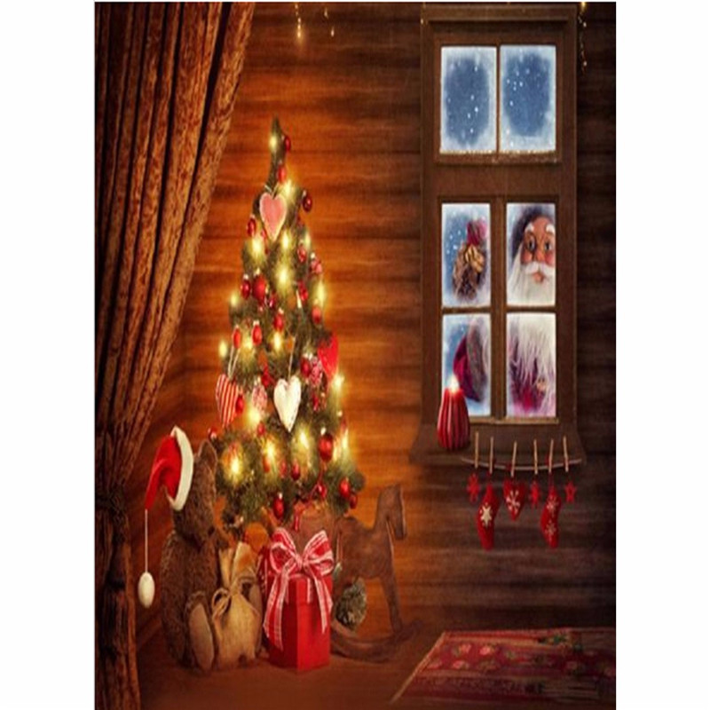 3x5ft Vinyl Photography Background Christmas Themed Gift Wood Board photo Studio Props Backdrop 90cmx150cm waterproof christmas background pictures vinyl tree wreath gift window child photocall fairy tale wonderland camera photo studio backdrop