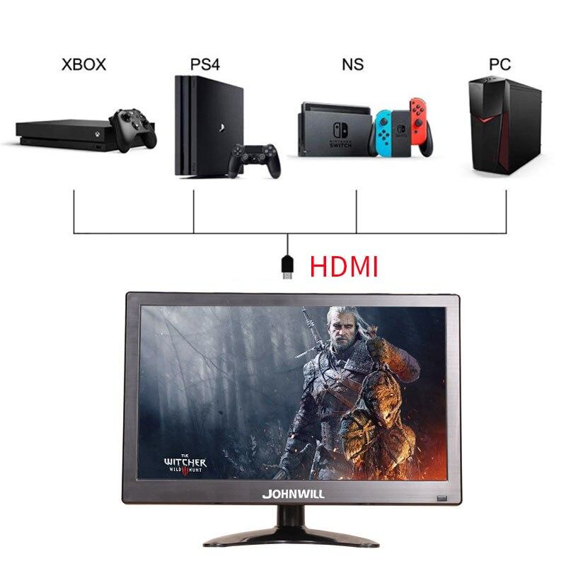 Nouveau 12 pouces de sécurité LCD moniteur LED CCTV ordinateurs moniteurs avec haut-parleurs AV BNC VGA HDMI USB moniteurs de bureau pour PS4 PC XBOX