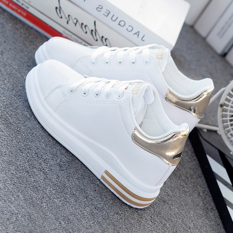 SWYIVY Chunky Sneakers Casual Shoes Women Sneakers Autumn New 2019 White Shoes For Women Platform Shoes White Wedge Ladies Shoe