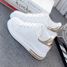 SWYIVY baskets en microfibre pour femmes, chaussures de printemps blanches, chaussures décontractées, nouvelle collection 2020
