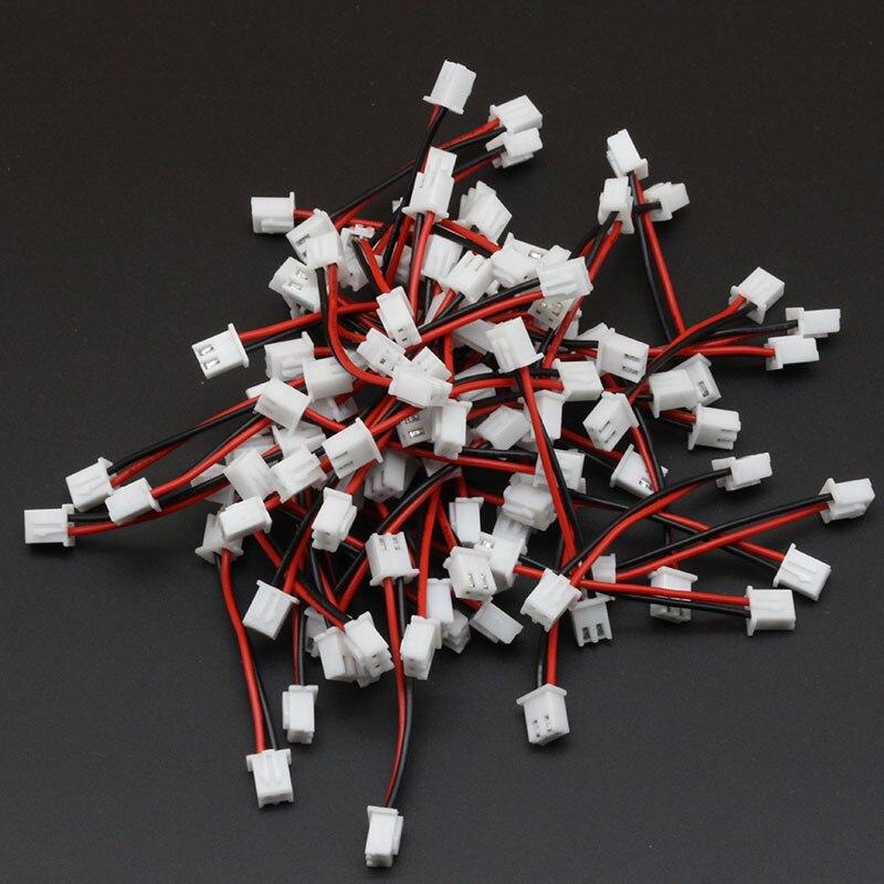 500 STÜCKE XH 2,54 2 Pin Stecker Draht Gehäuse Kabel Doppel Gehäuse Gleichen Seite 24AWG 50 MM Schwarz Rot-in Kabelbaum aus Heimwerkerbedarf bei AliExpress - 11.11_Doppel-11Tag der Singles 1